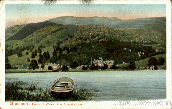 Grasmere.Prience of Wales Hotel from the Lake England