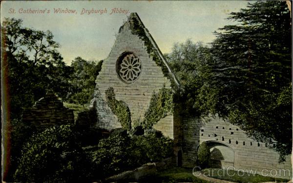 St.Catherine's Window Dryburgh Abbey Scotland