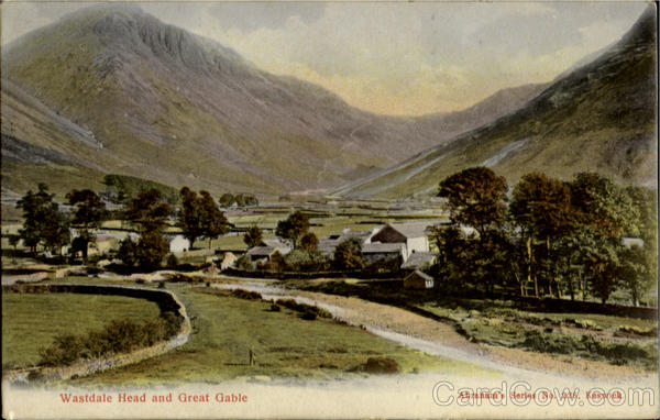 Wastdale head and Great Gable England