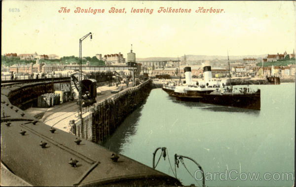 The Boulogne Boat,leaving Folkestone Harbour England