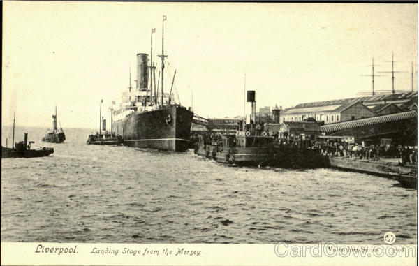 Liverpool.Landing Stage from the Mersey England