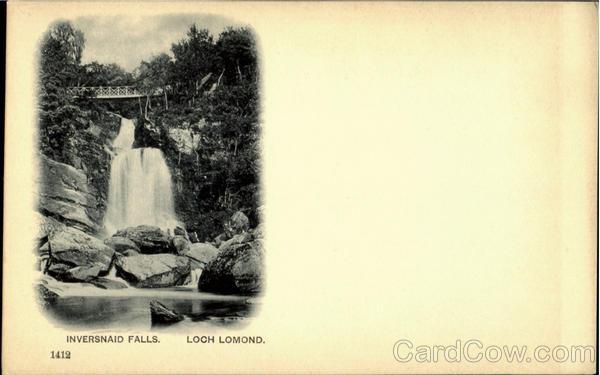 Inversnaid Falls Loch Lomond Scotland