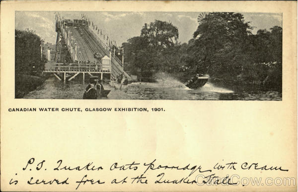 Canadian Water Chute,Glasgow Exhibition,1901 England