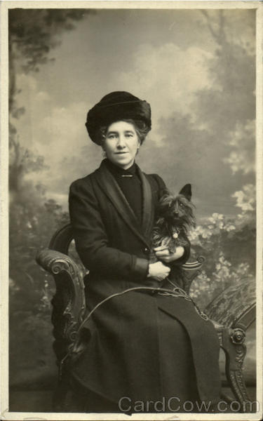 Woman and her Dog Ulveston England Women Dogs