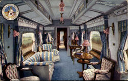 Her Majesty'S Day Compartment.London & North Western Railway Company Postcard