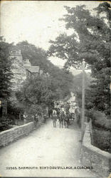 Barmouth :Bont-Ddu Village,& Coaches Postcard