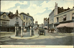 Coronation Stone & Market Place ,Kingston On Thames. Postcard