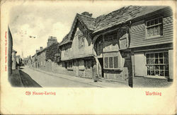 Old Houses-darring-Worthing Postcard
