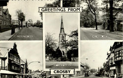 Greetings From Crosby Postcard