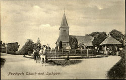 Newdigate Church and Lychgate Postcard