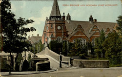 Dell Bridge And Schools Postcard
