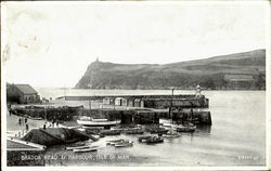 Bradda Head & Harbour,Isle Of Man. Postcard