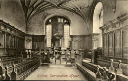 Oxford,Convocation House. Postcard