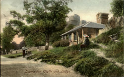 Launceston Castle and Lodge Postcard