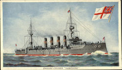 "English Cruiser ""Hampshire"". Postcard"