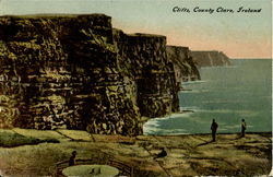 Cliffs,County Clare Postcard