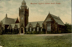 Merchant Taylor's School Great Crosby Postcard