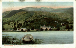 Grasmere.Prience of Wales Hotel from the Lake Postcard