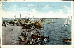 Beach And Anchor Of Victory Postcard