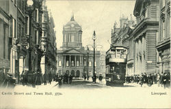 Castle Street and Town Hall Postcard