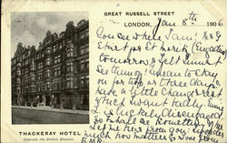 THACKRAY HOTEL, Opposite the British Museum Postcard