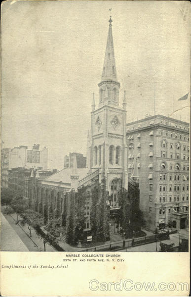 Marble Collegiate Church 29th St And Fifth Ave New York