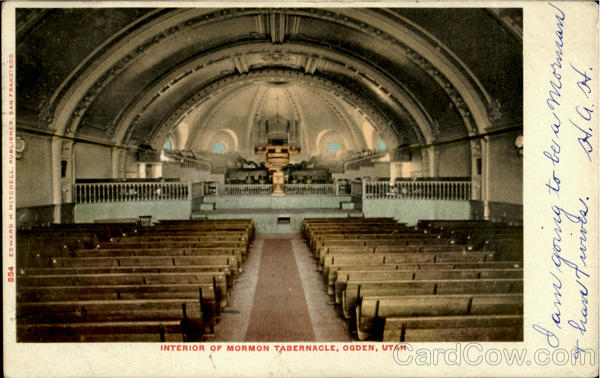 Interior Of Mormon Tabernacle Ogden Utah