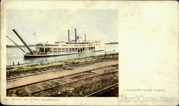 A Mississippi River Packet Riverboats