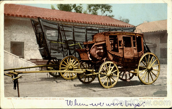 The Limited And A Freight Car Of Early Days Cowboy Western