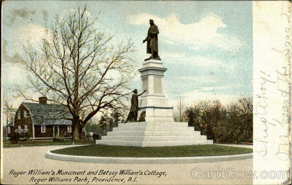 Roger William's Monument And Betsey Williams Cottage, Roger Williams Park Providence Rhode Island