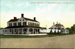 Officers Barracks And Tent