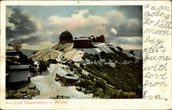 Lick Observatory In Winter