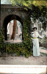 Madam Modjeska At The Well At Her Home
