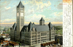 City Hall And Court House Postcard