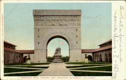 Memorial Arch Looking East, Stanford University