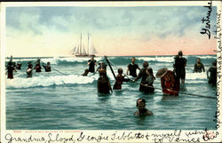 Winter Sea Bathing At California