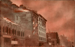 Destruction Of The Whole Sale District Postcard