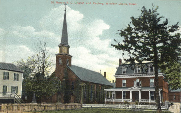 St. Mary's R.C. Church and Rectory Windsor Locks Connecticut