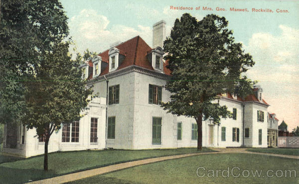Residenc of Mrs. Geo, Maxwell Rockville Connecticut