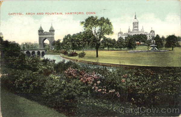 Capitol Arch And Fountain Hartford Connecticut