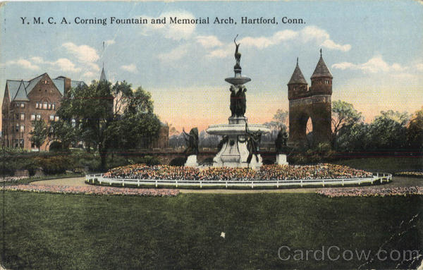 Y. M. C. A. Corning Fountain and Memorial Arch Hartford Connecticut