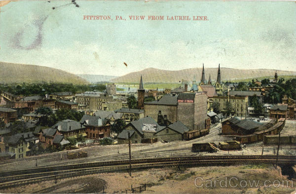 View from Laurel Line Pittston Pennsylvania