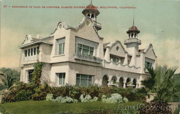 Residence of Paul De Longpre Hollywood California