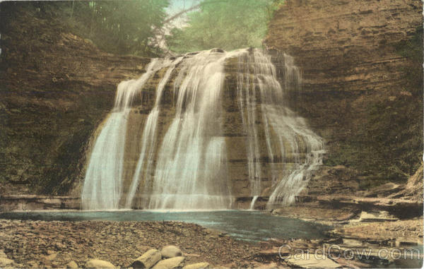 Upper Falls Stony Brook State Park Dansville Ny