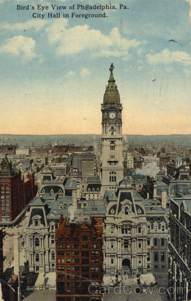 Bird's Eye View of Philadelphia Pennsylvania