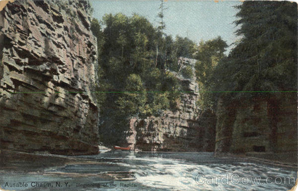 Beginning of the Rapids Ausable Chasm New York