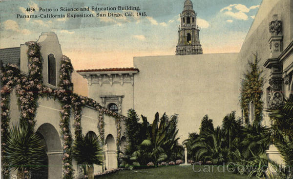 Patio in Science and Education Building, Panama-California Exposition San Diego