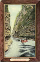 Ausable Chasm, Adirondack Mountains Postcard