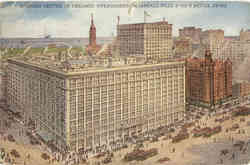 Chicago Business Center Marshall Field & Co. Retail Store Postcard