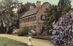 South Wing of Tudor Mansion, Middleton Place Gardens Postcard